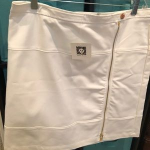 Anne Klein white skirt